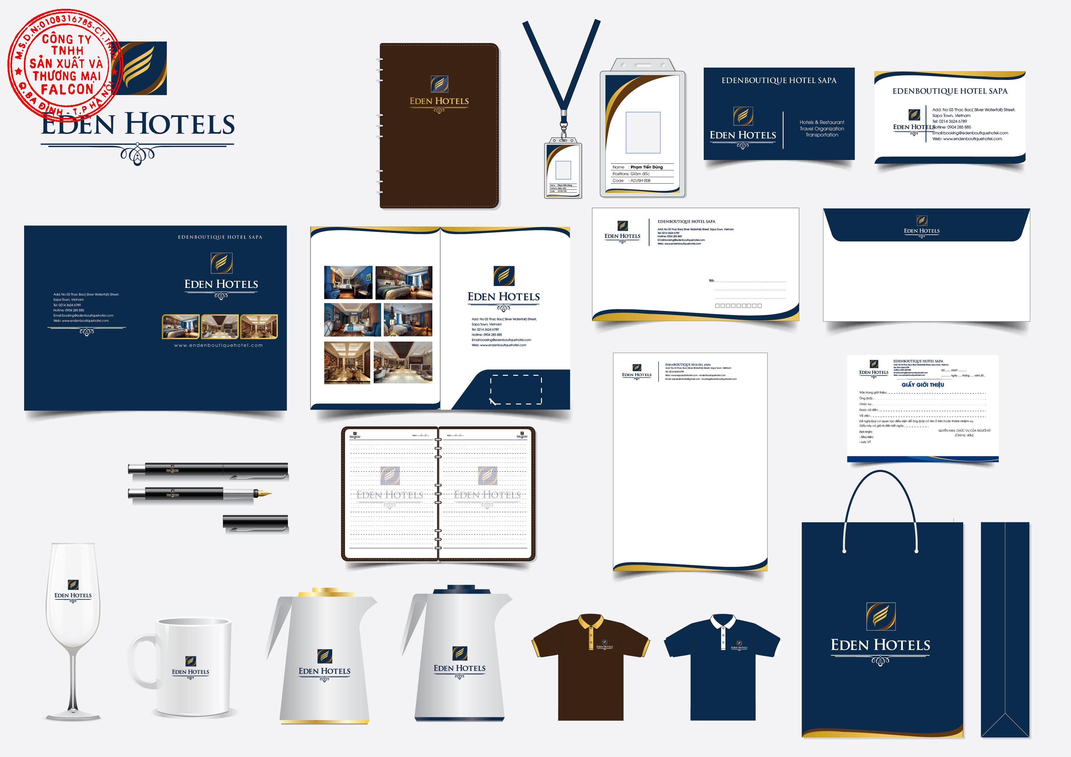 Thiết kế in ấn logo thương hiệu khách sạn theo yêu cầu
